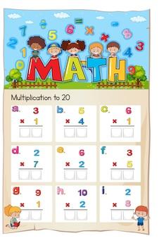 Rozdział numer mnożenia w arkuszu matematycznym