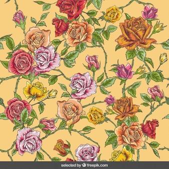 Róże w tle