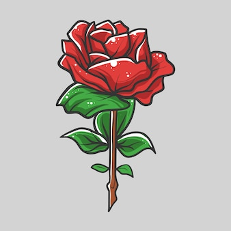 Róże wektorowych ilustracji