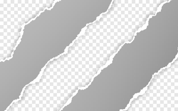 Rozerwane, kwadratowe, poziome paski papieru