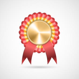 Rozeta nagrody za pomocą wstążek. ilustracji wektorowych.