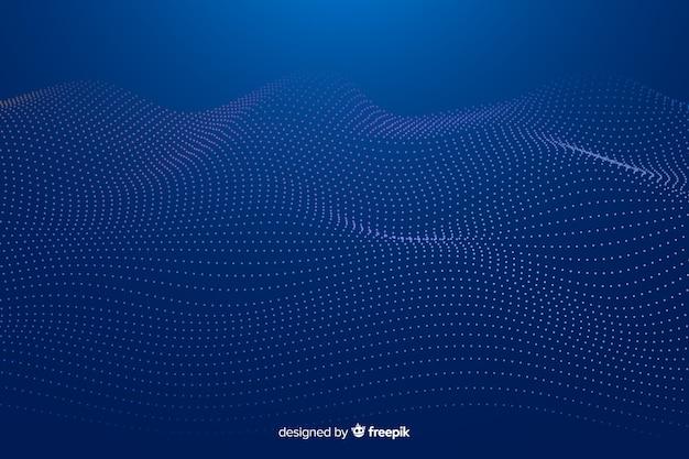 Rozjarzony fractal siatki fali tło