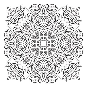 Rozkwit mandali. książka do kolorowania.