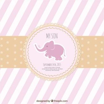 Rozłożony różowy karta baby shower
