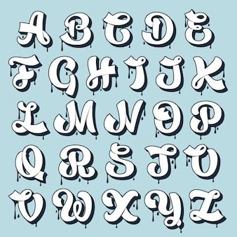 Rozmazać alfabet kaligrafii.