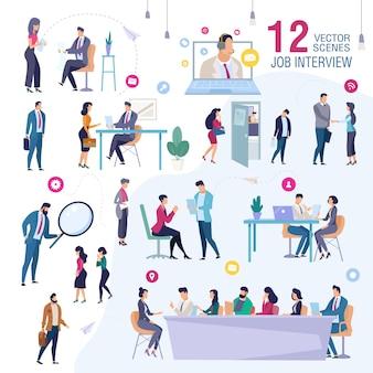 Rozmowa kwalifikacyjna w scenach biurowych firmy