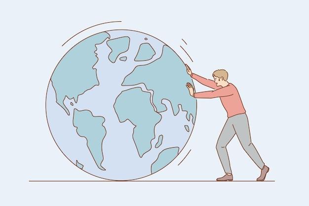 Rozmowa o środowisku i koncepcja oszczędzania ziemi