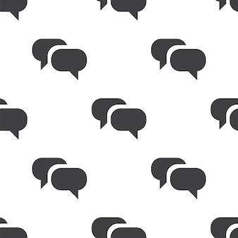 Rozmowa, wektor bezszwowy wzór, edytowalny może być używany do tła stron internetowych, wypełnienia deseniem