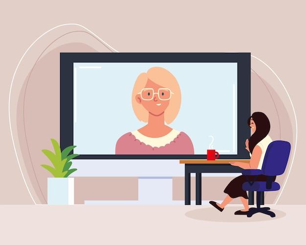 Rozmowa wideo z kobietami