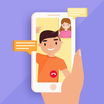 Rozmowy wideo z przyjaciółmi