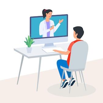 Rozmowy wideo z terapeutą