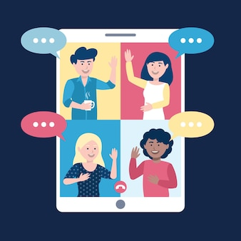 Rozmowy wideo ze znajomymi na smartfonie