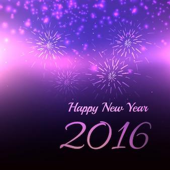 Rozmycie 2016 szczęśliwego nowego roku karty