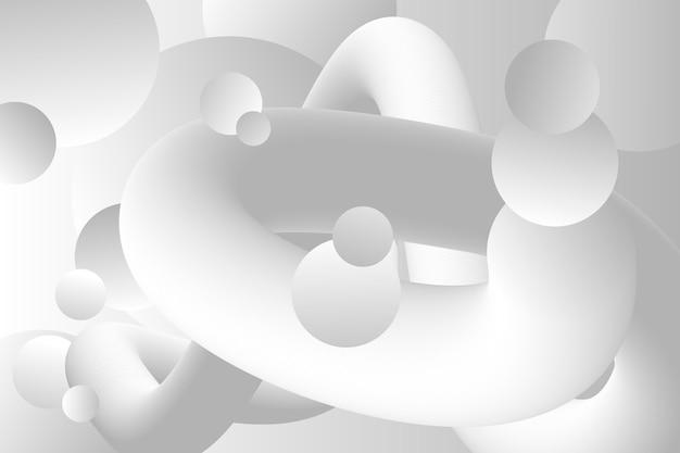 Różne abstrakcyjne kształty białe tło