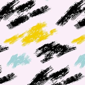 Różne abstrakcyjne pociągnięcia pędzlem wzór