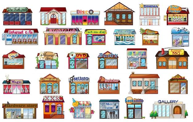 Różne budynki