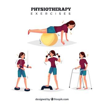 Różne ćwiczenia rehabilitacyjne