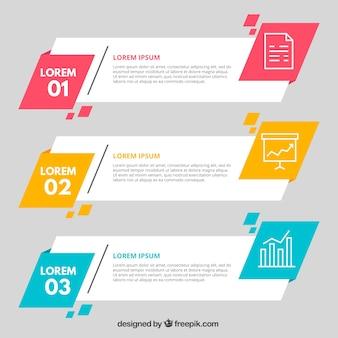 Różne geometryczne transparenty infograficzne