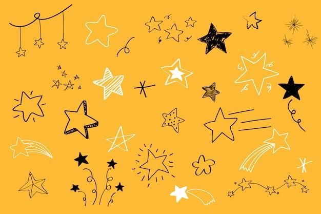 Różne gwiazdy doodle wektor zbiory