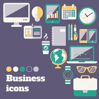 Różne ikony biznesu