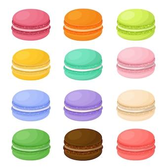 Różne kolorowe makaroniki
