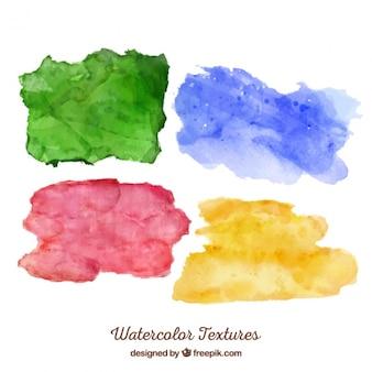 Różne kolory plamy akwarela