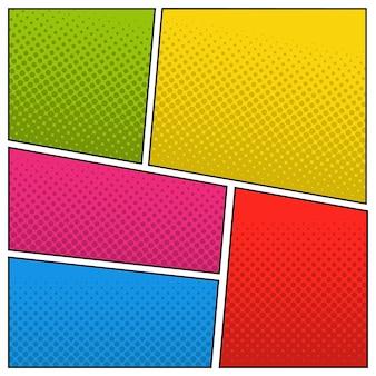 Różne kolory tła pop-artu z półtonami.