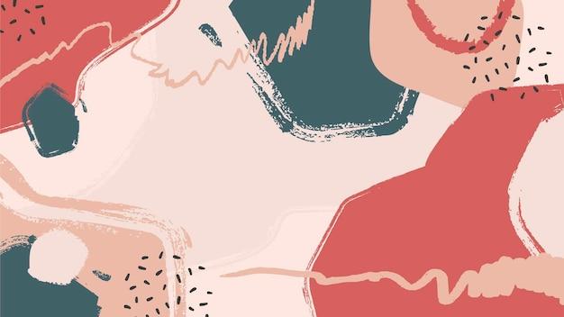 Różne kształty abstrakcyjne malowane tła