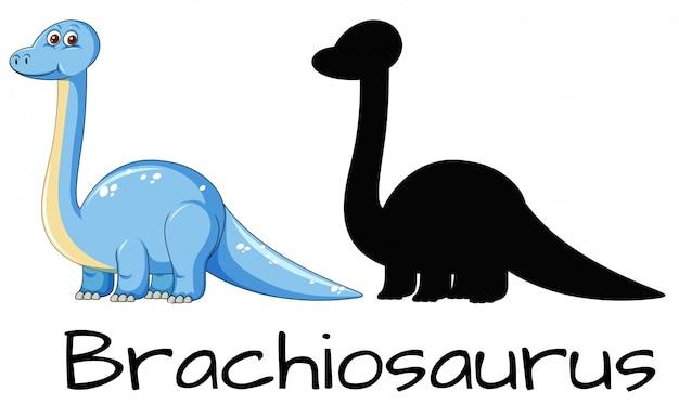 Różne kształty dinozaura brachiozaura