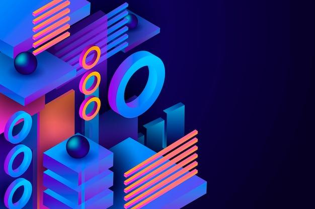 Różne kształty gradientowe tło geometryczne