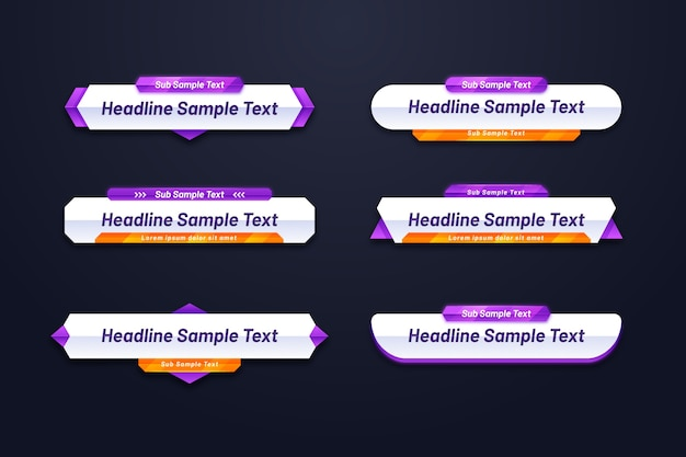 Różne kształty szablonu banera internetowego