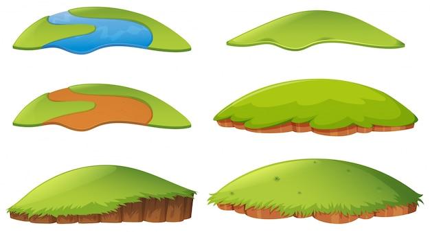 Różne kształty wyspy