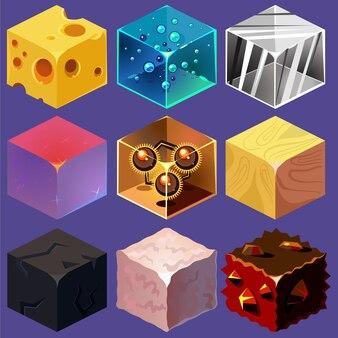 Różne materiały i tekstury do gry