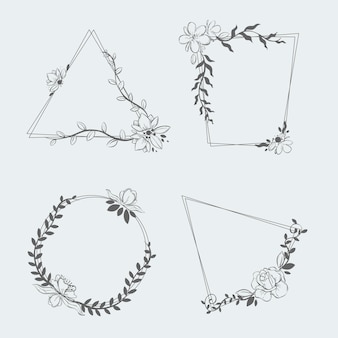Różne modele kolekcji ramek kwiatowych