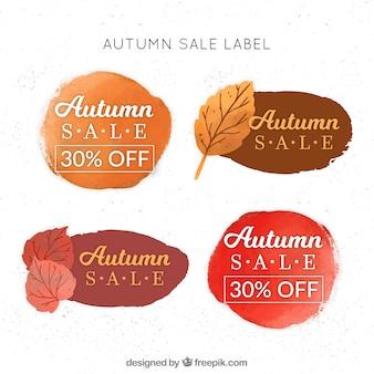 Różne naklejki akwarela jesienią sprzedaży