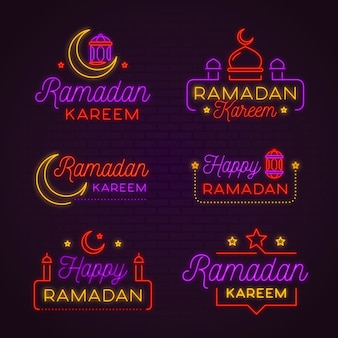 Różne neony ramadanu