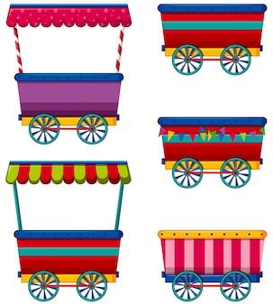 Różne projekty wózków i dostawców