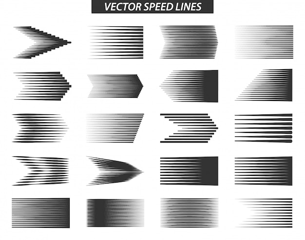 Różne proste linie prędkości efekty ruchu