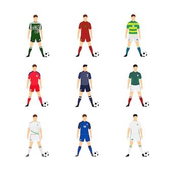 Różne reprezentacje piłkarskie w piłce nożnej