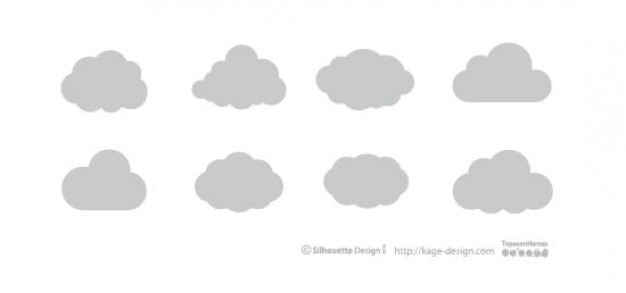 Różne rodzaje chmur