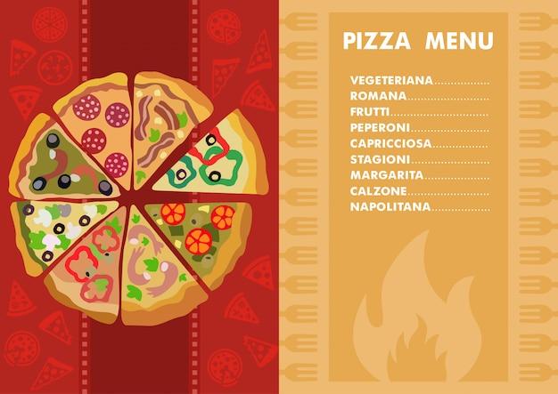 Różne rodzaje pizzy