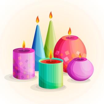 Różne rodzaje świec zapachowych