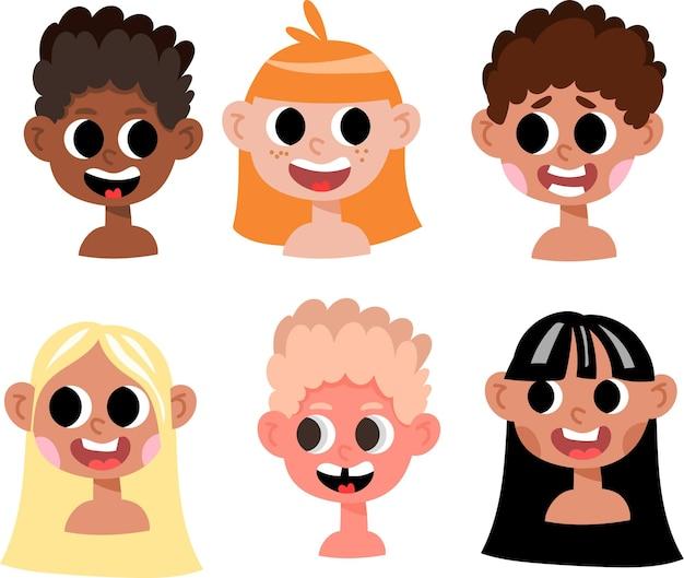 Różne różnorodne wielokulturowe dzieci