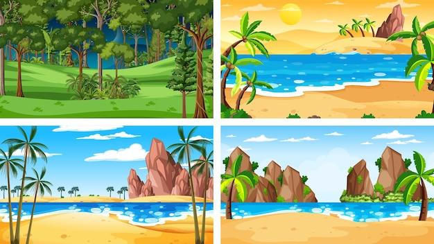 Różne sceny poziome natury