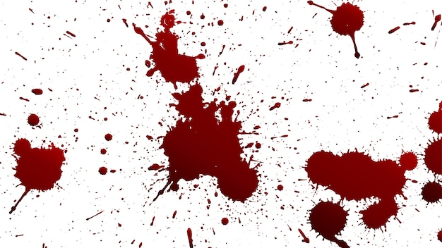 Różne splattery krwi lub farby