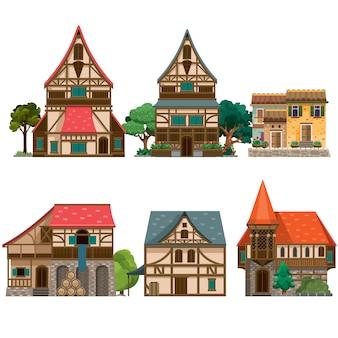 Różne średniowieczne domy
