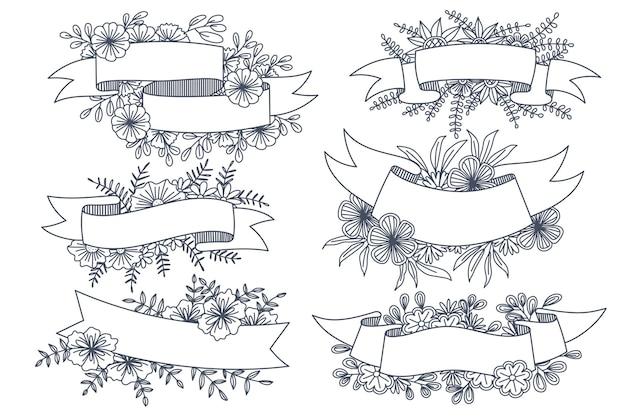 Różne style ramek kwiatowych