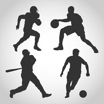 Różne sylwetki sportowe