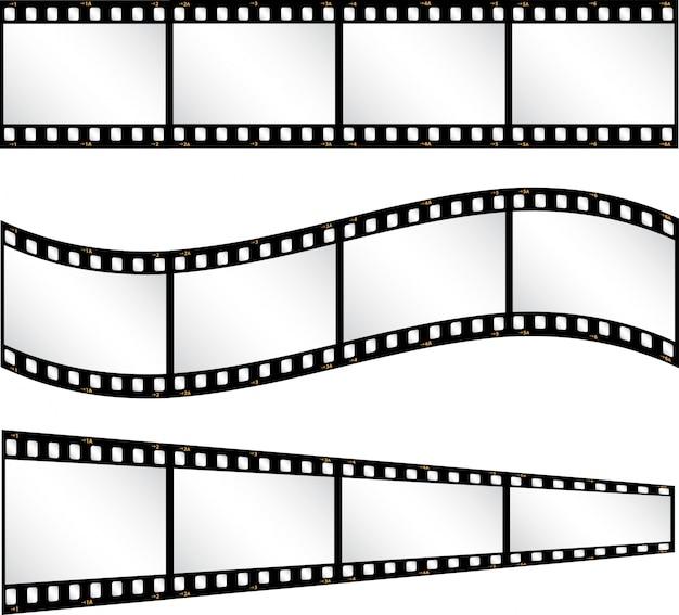 Różne tła taśmy filmowej