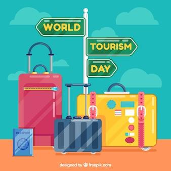 Różne walizki, dzień turystyki światowej